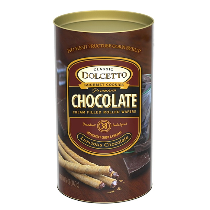 Dolcetto Chocolate Wafer Rolls 4.4 oz Box